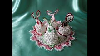 Пасхальные зайцы-кролики крючком