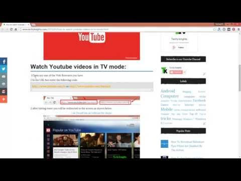 How To Watch YouTube Video In TV Mode