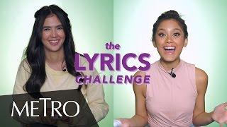 Video LET'S PLAY! The Lyrics Challenge With Sofia And Ylona   Metro Magazine download MP3, 3GP, MP4, WEBM, AVI, FLV Juli 2017