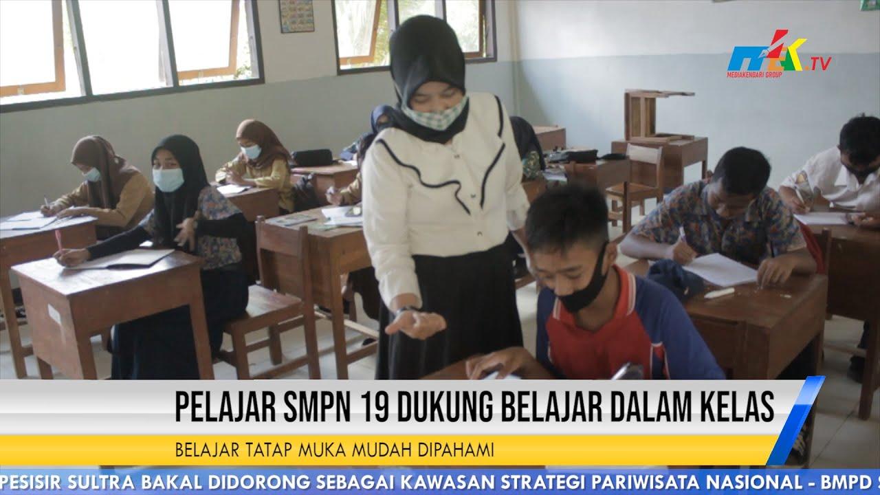 Pelajar SMPN 19 Dukung Belajar Dalam Kelas
