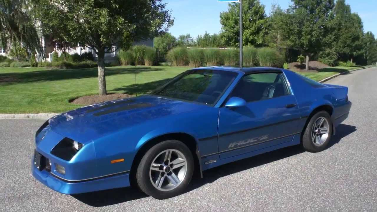 medium resolution of  sold 1985 chevrolet iroc z z28 for sale low miles only 15 768 miles documented one owner youtube