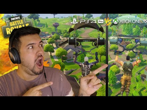 XBOX ONE X vs PS4 PRO - Which Is King?! | Fortnite: BATTLE ROYALE #5