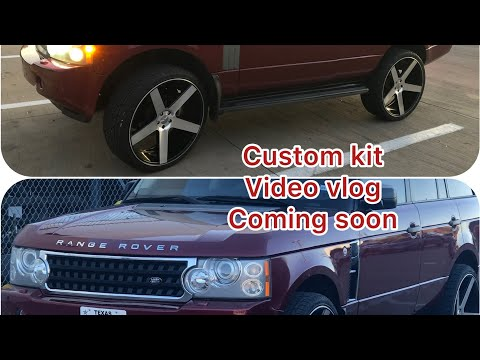 How to install custom parts on a RANGE ROVER HSE