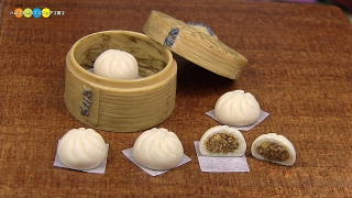 DIY Miniature Nikuman (Steamed Pork Buns)  ミニチュア肉まん作り (Fake food)