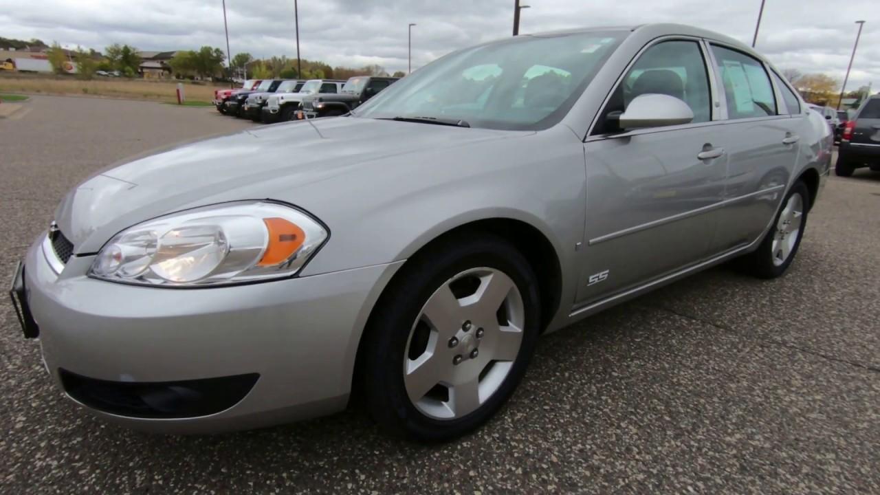 2008 Impala Ss For Sale >> 2008 Chevrolet Impala Ss Sedan Used Car For Sale Hudson Wi