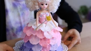 How to make Licca-chan Dress Doll Cake Little Twin Stars Unicorn Color