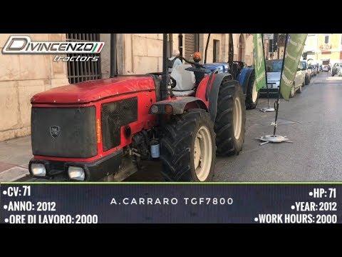 antonio carraro tgf 7800 trattori usati used tractors
