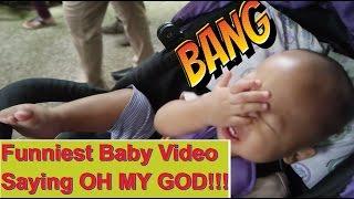 funny baby videos  可爱爆笑小孩影片猛拍头!