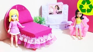 How To Make A Mini Bed For Your Mini Doll- Doll Crafts