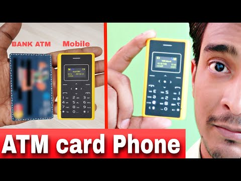 Card Phone  Only Bank Card Size available 5 colors  Mp3,FM,LED torch much more