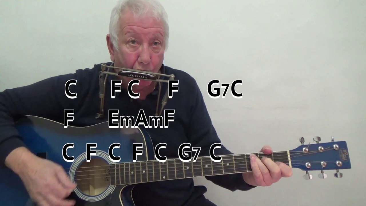 Shenandoah Easy Chord Guitar Lesson With On Screen Chords And