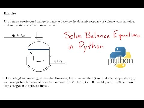 Solve Engineering Balance Equations in Python