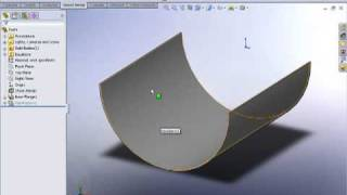 SolidWorks Rolled Sheetmetal