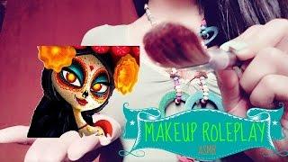 ASMR Catrina Makeup Roleplay   Halloween/Día de muertos edition (SPANISH)