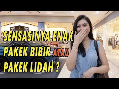 ENAK MANA PAKEK LIDAH ATAU BIBIR ?    SOSIAL EKSPERIMEN INDONESIA