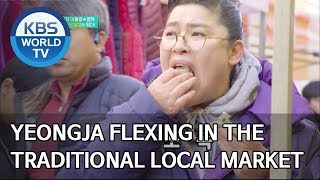 Yeongja flexing in the traditional local market [Stars' Top Recipe at Fun-Staurant/2020.03.02]