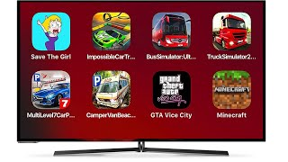 Save the Girl,Impossible Car Track,BusSimulator,Truck,Multi Level Car Parking,GTA ViceCity,Minecraft