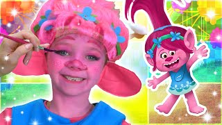 Poppy Face Paint | Trolls! | Funtastic Playhouse!