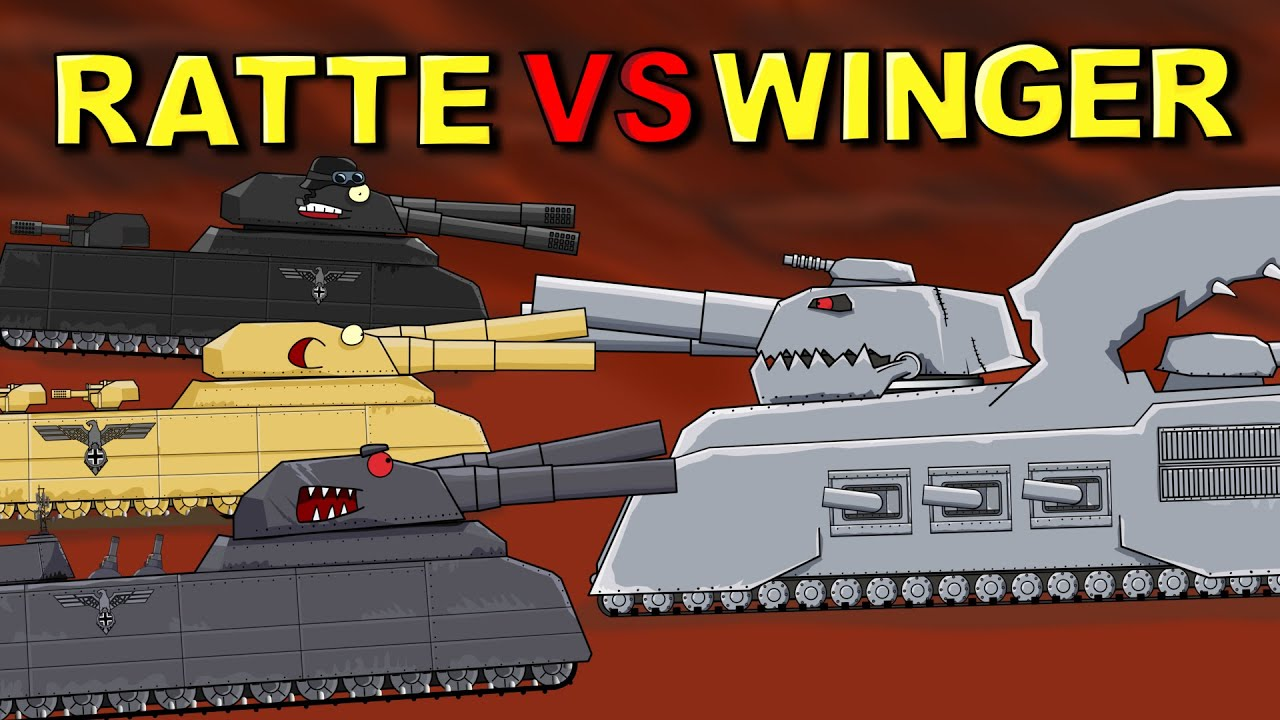 """Download """"Ratte or Winger - who is stronger?"""" - Cartoon about tanks"""