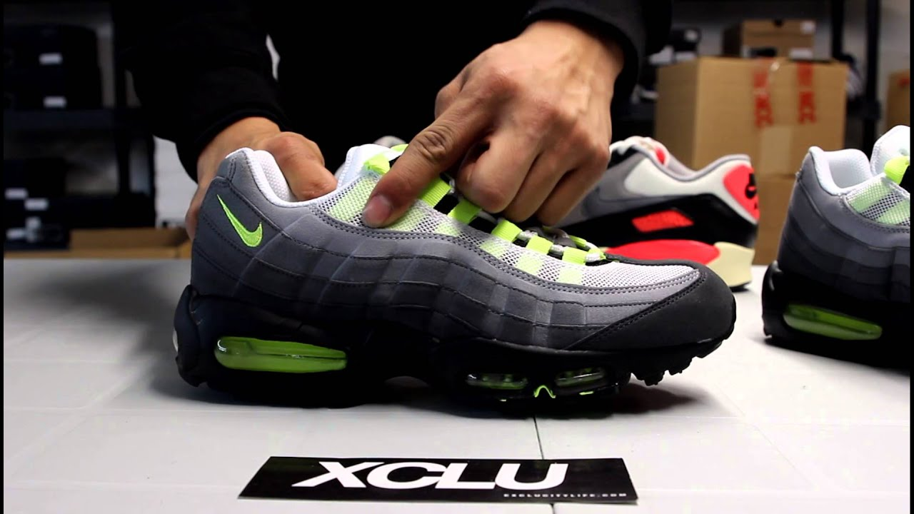 Nike Air Max 95 Neon On Feet