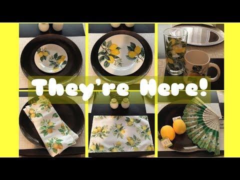 The Lemon Dinnerware Is Here! | Dollar Tree Haul & More