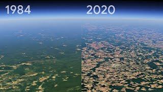 Как изменилась наша планета за 36 лет. Google Timelapse Video