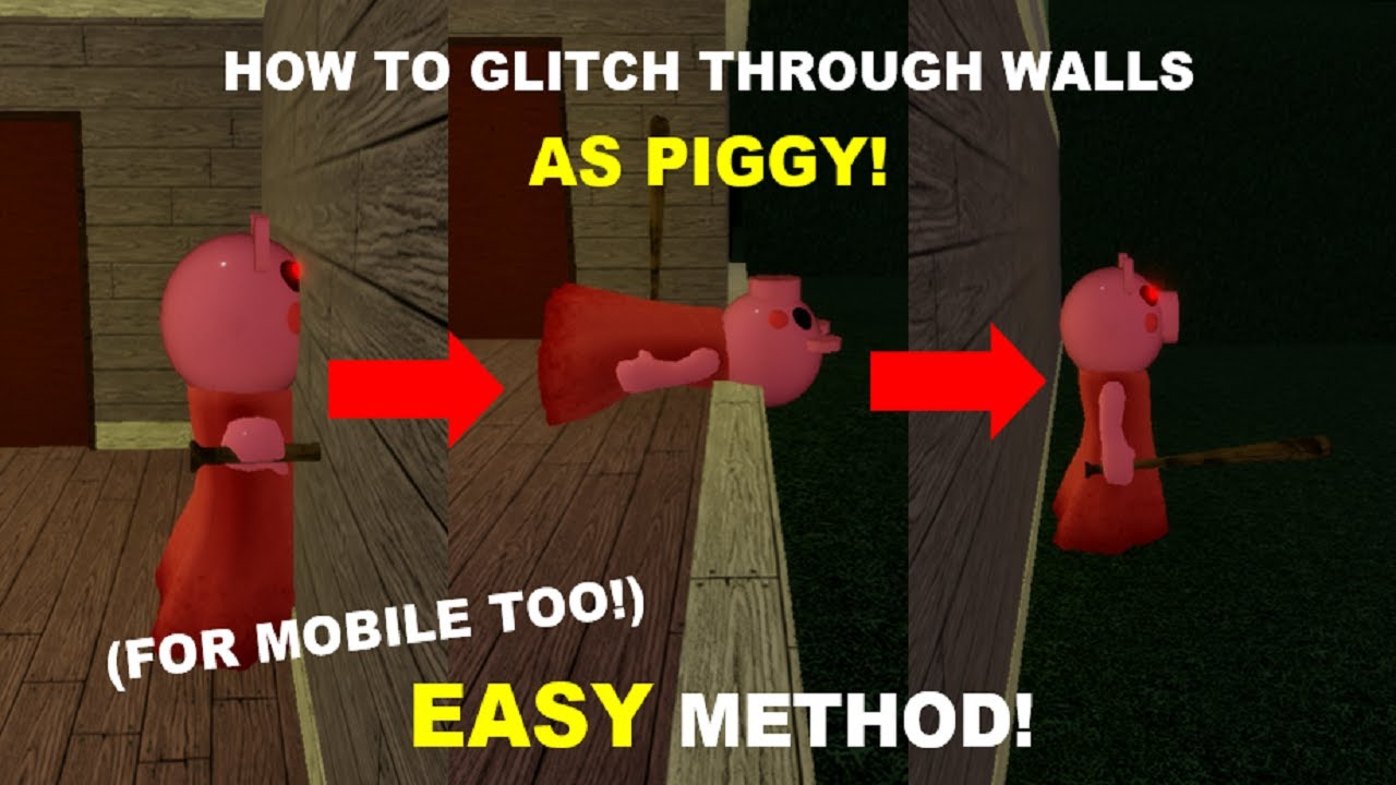 (EASY WAY) How to GO THOUGH WALLS as PIGGY!  Mobile (DANCE CLIPING as PIGGY) [Roblox Piggy Glitches]