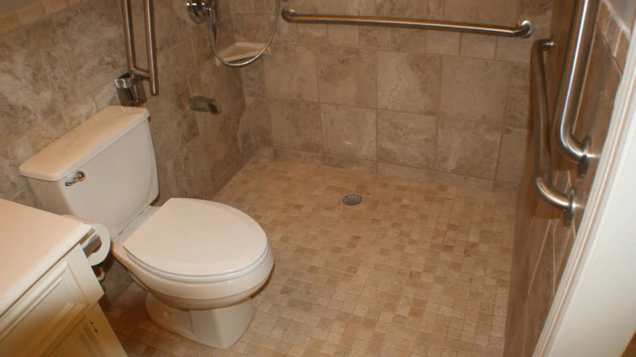 Handicap Bathroom Remodel Entrancing Handicap Bathroom Remodeling.wmv  Youtube Review