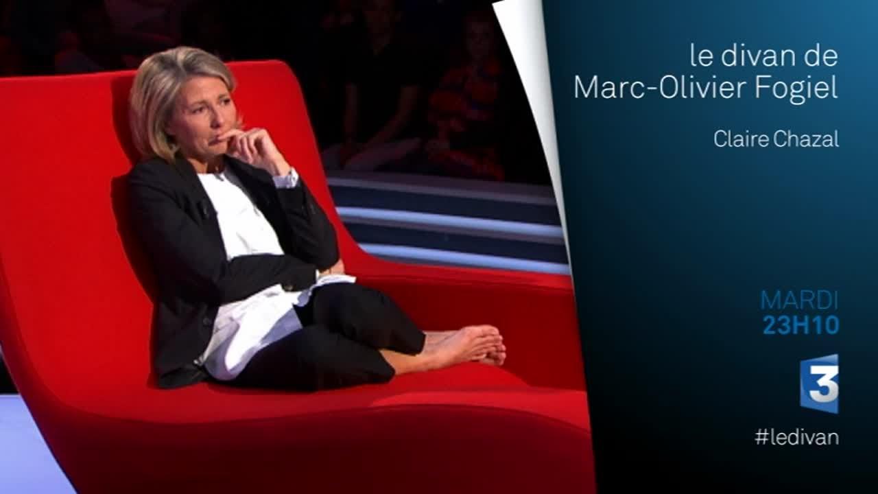 Claire chazal invit e sur le divan de marc olivier fogiel for Le divan 9 juin 2015