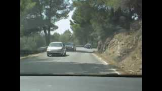 2012-08-21 Hired Seat Ibiza - Driving in Mallorca Mountains from Cap Formentor