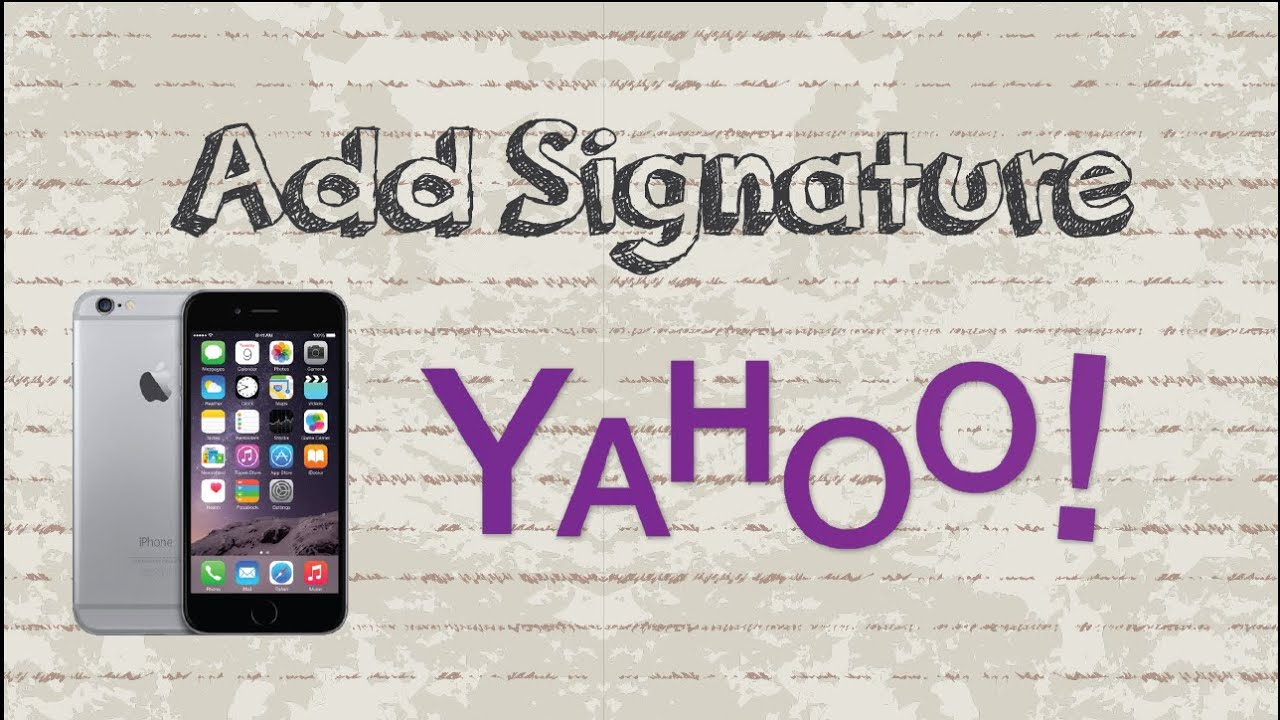How To Add Signature In Yahoo Mail  Mobile App (android & Iphone)