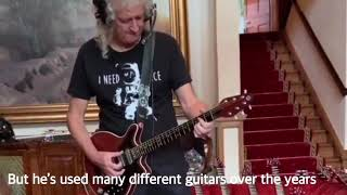 Different Guitars Brian May Has Used Over The Years With Queen