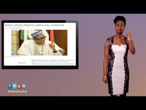 Buhari Calls Nigerian Youths Lazy; Swazi King Renames Country; OAU Sex Scandal; Togo Crisis; Uganda