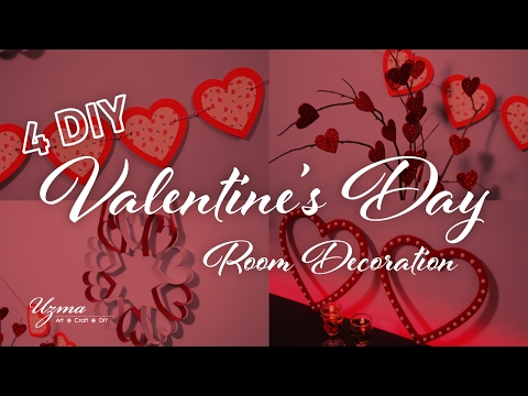 Valentine's Day Decoration Ideas | 4 DIY Home Decor ideas