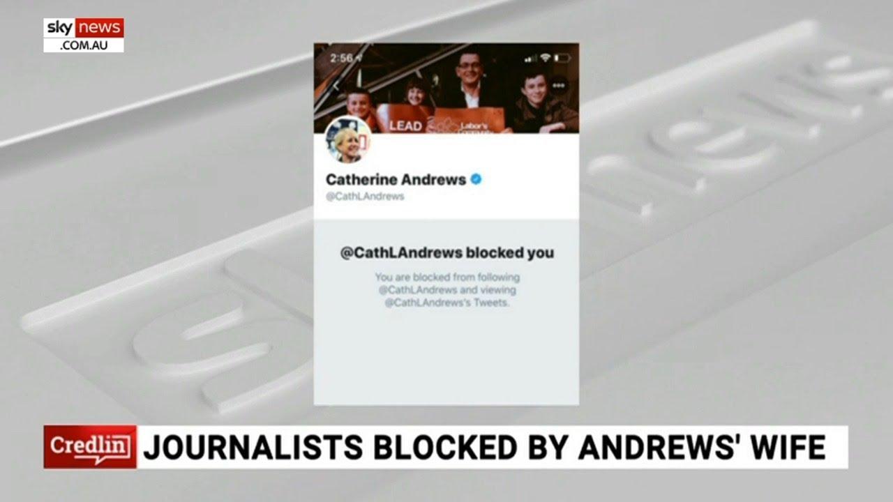 Journalist blocked by Dan Andrews' wife: 'It was all a bit mean girls'