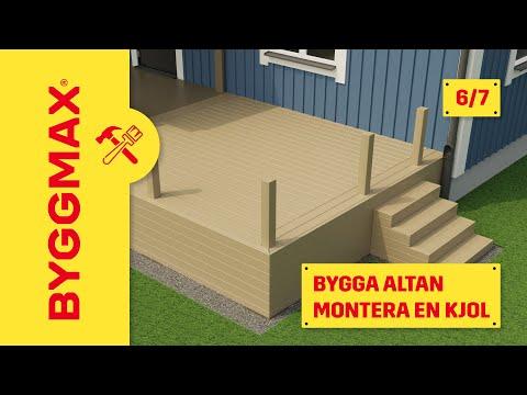 Byggmax tipsar, bygga altan (Del 6 - inklädnad av kjol) - YouTube