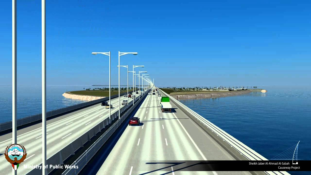 The longest bridge in the world will be finished this year in Kuwait