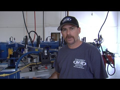 M&R Screen Printing Equipment Setup—Air Lines