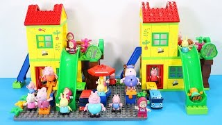 Peppa Pig Building Blocks House Lego Toys For Kids - Lego Duplo House Creations Toys #6