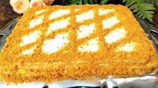 Mana Eng Mazali Oson Va Barakali Medovik Tort MEDOVIK TORTI Мёдовый Торт Тающий во Рту Honey Cake