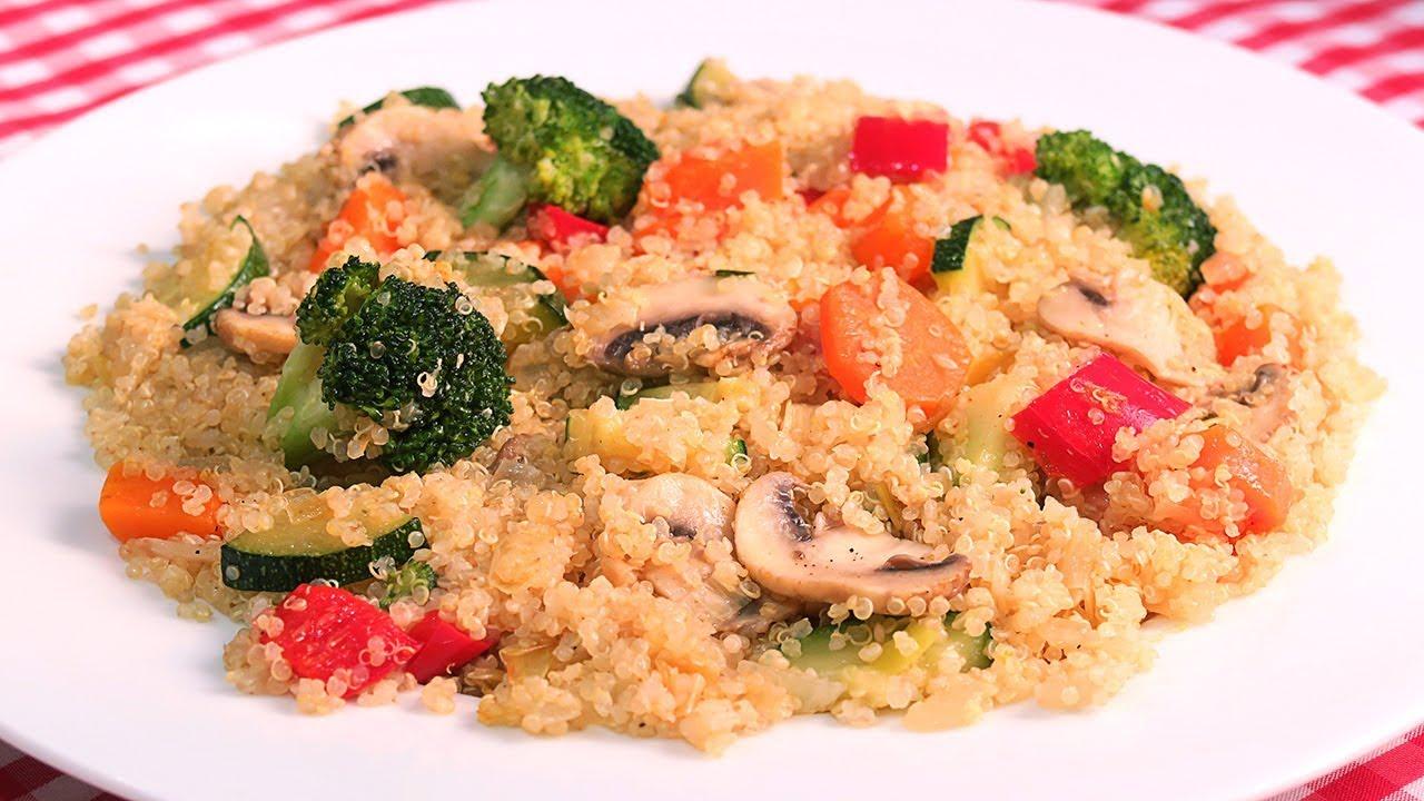 Quinoa Con Verduras Receta Muy Fácil Y Saludable Youtube