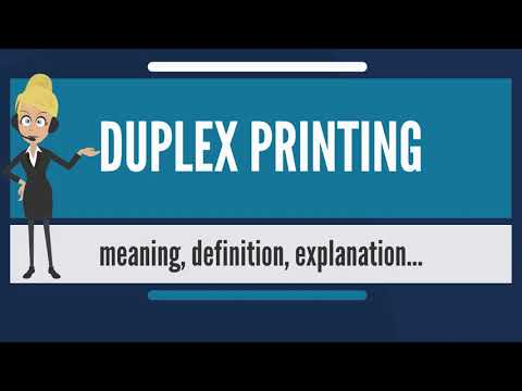 What is DUPLEX PRINTING? What does DUPLEX PRINTING mean? DUPLEX PRINTING meaning & explanation