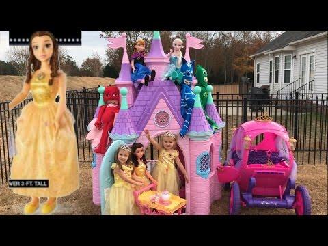 Disney Princess Castle My size Belle Elsa Anna Musical Tea Party Cart