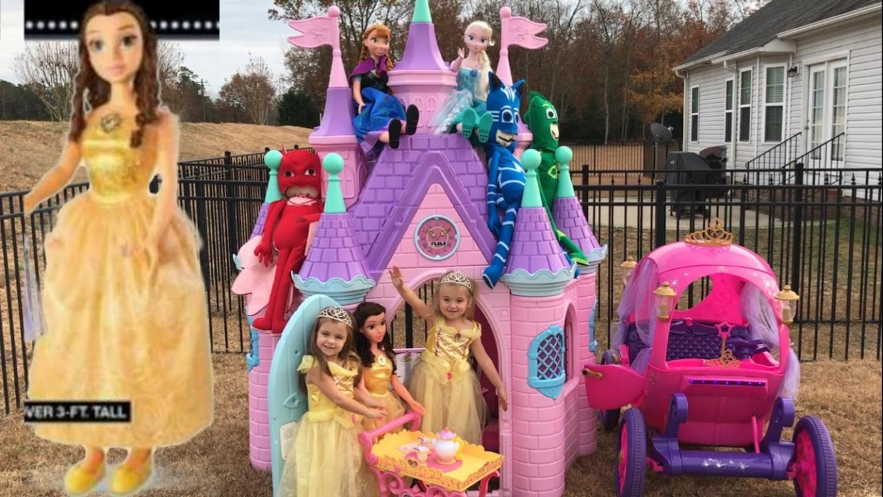 Disney Princess Castle My Size Belle Elsa Anna Musical Tea