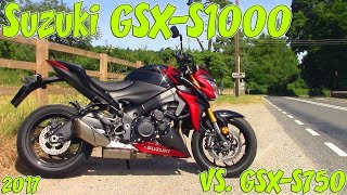 2017 Suzuki GSX-S1000 Review! Vs. GSX-S750