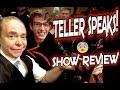 Penn & Teller LIVE SHOW REVIEW| Las Vegas| Fool Us| Teller Talks!!