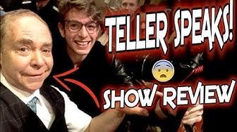 Penn & Teller LIVE SHOW REVIEW  Las Vegas  Fool Us  Teller Talks!!