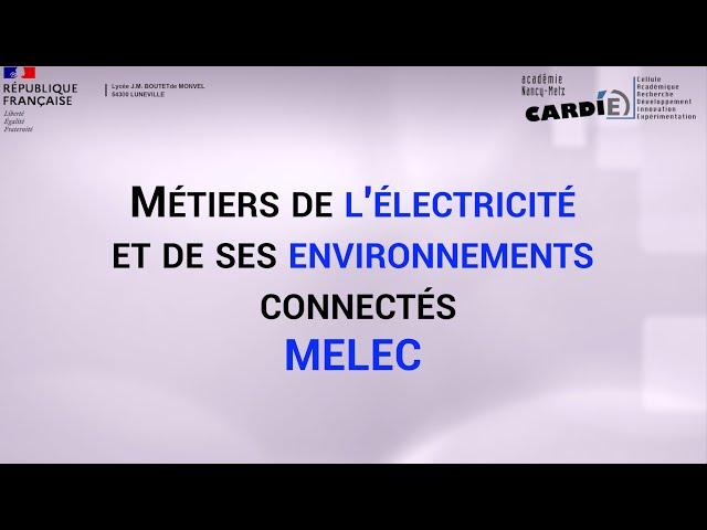 Lycée Boutet de Monvel à Lunéville - Baccalauréat Professionnel MELEC