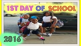 1st Day of School; Large Family Living; Black Family Vlogs - Moments with Mommy