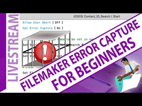 FileMaker Error Capture for Beginners